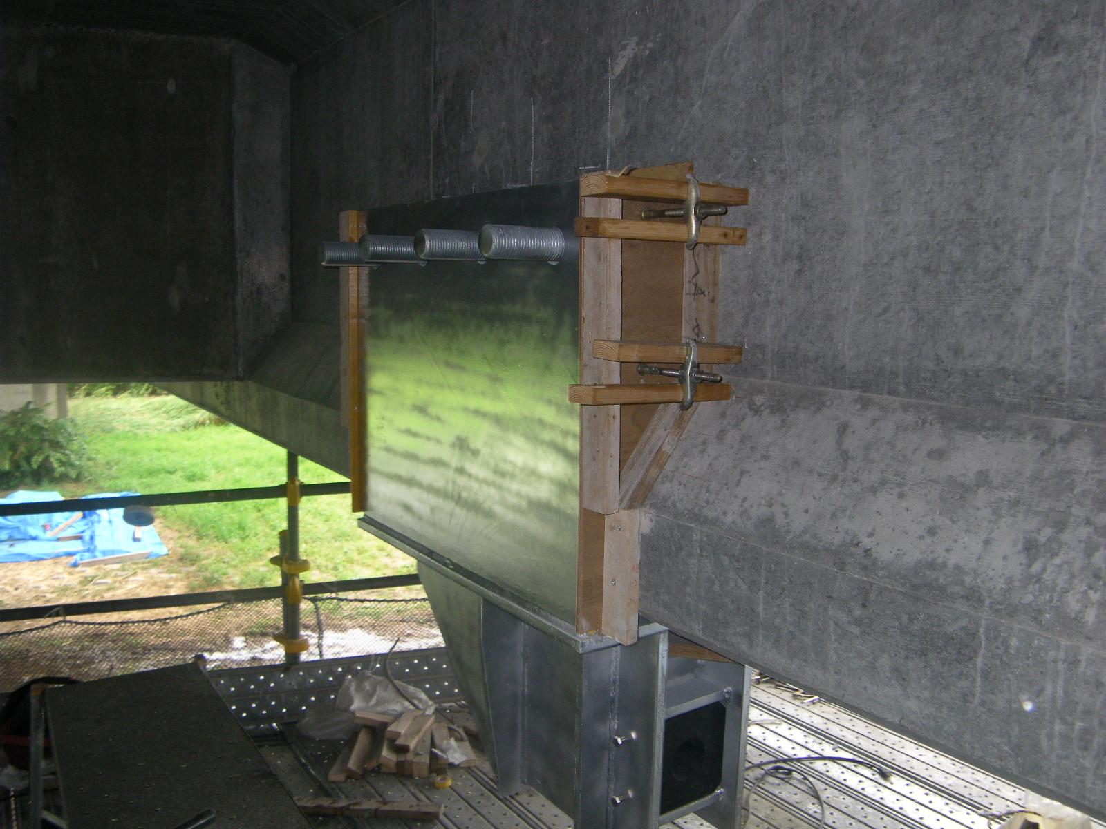 落橋防止装置 上部工ブラケット設置