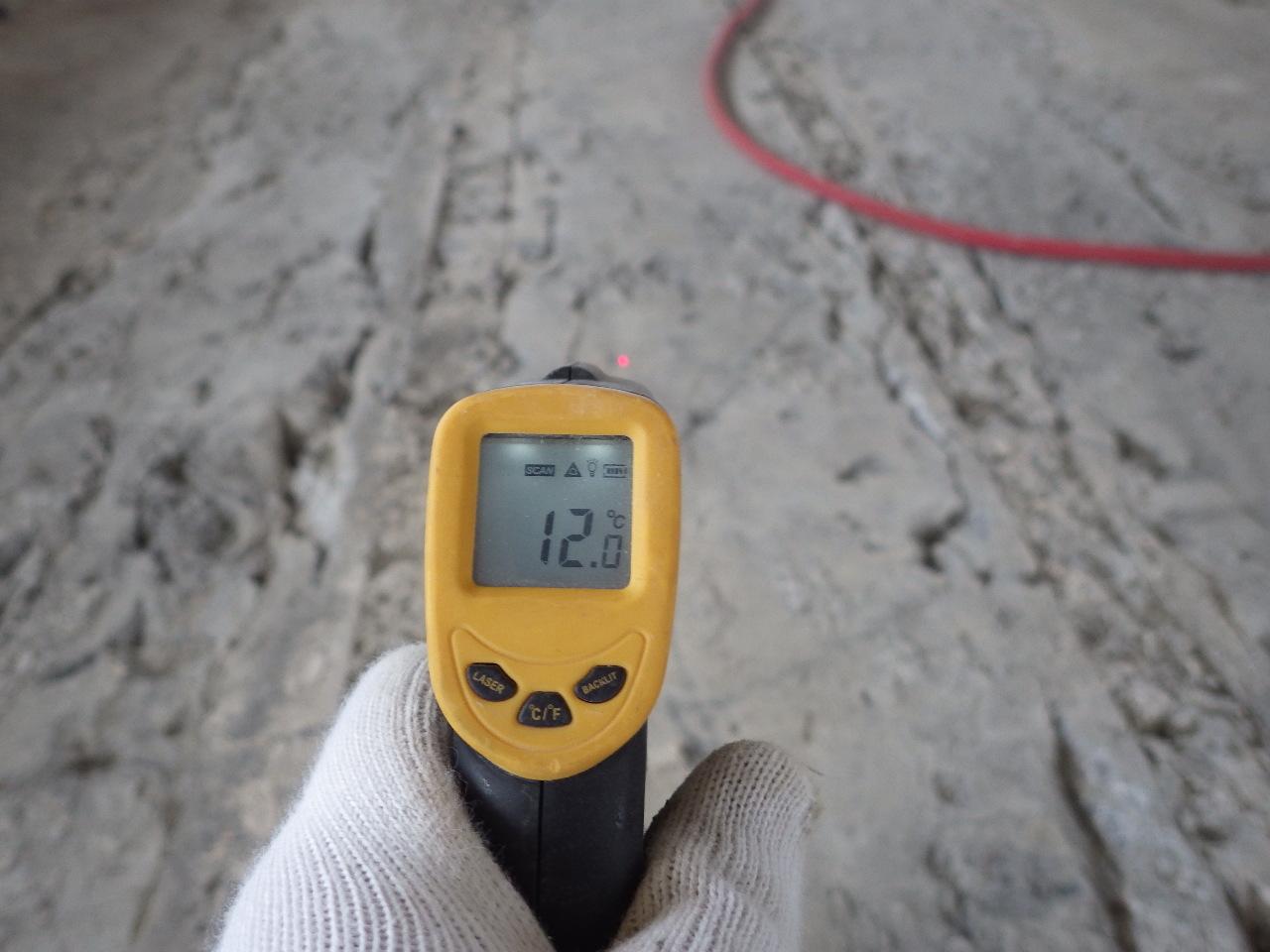 コンクリート床版温度の確認